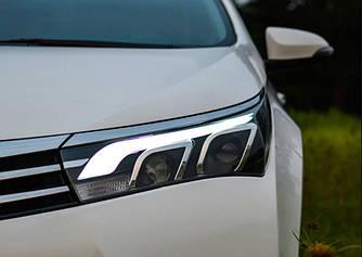 Передние фары LED оптика Toyota Corolla E170 (12-16) стиль 2