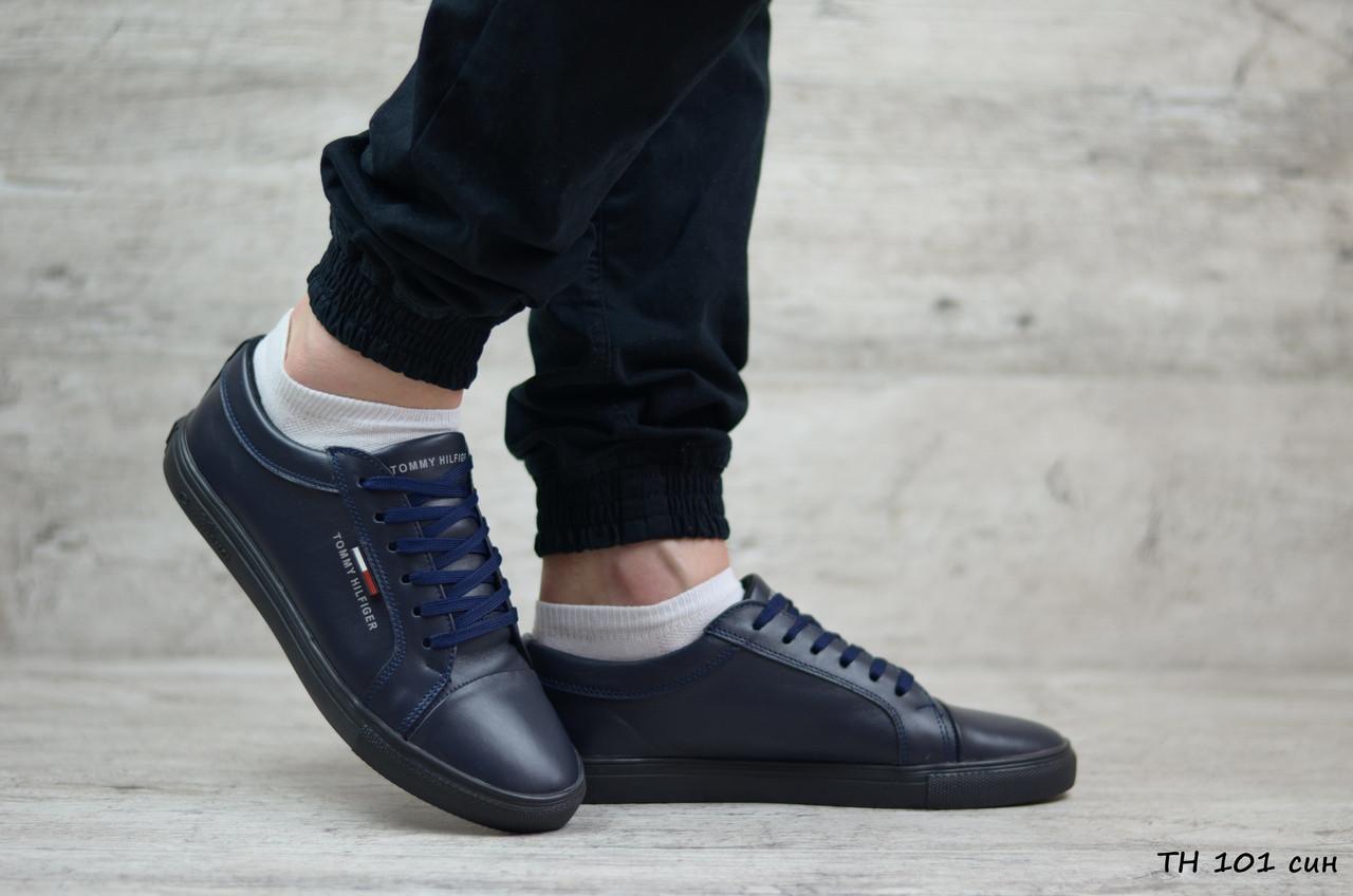 Мужские кожаные кроссовки Tommy Hilfiger (Реплика) (в наличии 40 41 43 44 45 01b4984e3230b