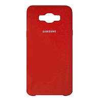 Чехол накладка Original Silicone case на Samsung Galaxy J7 (2016) SM-J710F Red