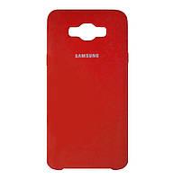 Чехол-накладка Original Silicone case на Samsung Galaxy J7 (2016) SM-J710F Red