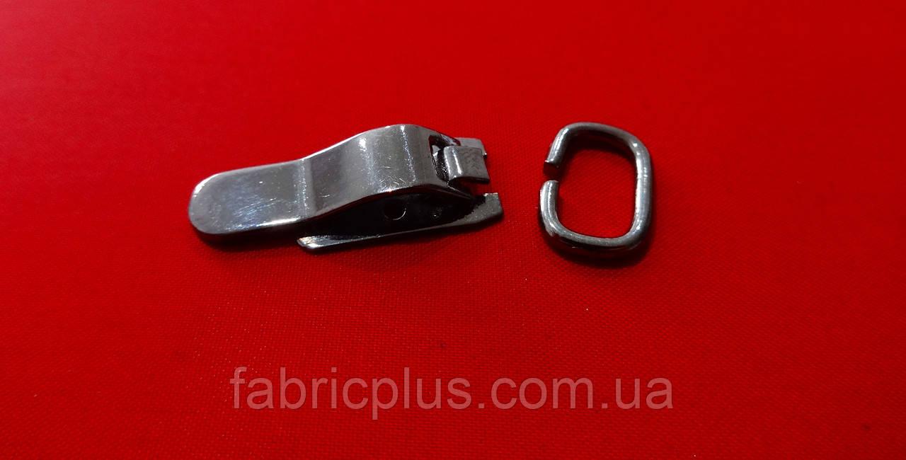 Крючок металл с петлей, чернен. никель