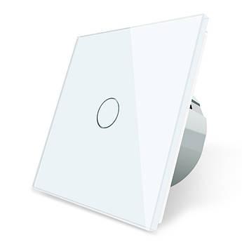 Сенсорный выключатель Livolo, цвет белый, стекло (VL-C701-11)
