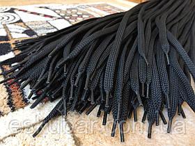 Шнурки плоские чёрные