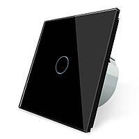 Сенсорный выключатель Livolo, цвет черный, стекло (VL-C701-12)