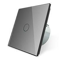 Сенсорный выключатель Livolo, цвет серый, стекло (VL-C701-15)