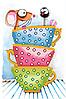Схема для вишивки бісером Мишка в чашках 2