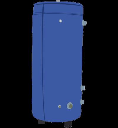 Аккумулирующий бак Корди АЕ-10I-2T (1000 л, два теплообменника, теплоизоляция)