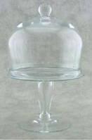 Тортовница/фруктовница с крышкой Н525мм стекло Бережаны 22014