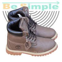 Ботинки Timberland Мужские Зимние с мехом (35-46 размер) Коричневые 47f89d7c15391