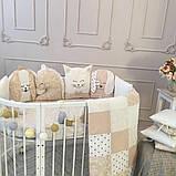 Детский постельный комплект в овальную кроватку Маленькая Соня Chudiki 6 и 7 элементов, фото 2