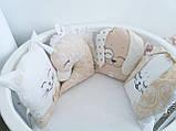 Детский постельный комплект в овальную кроватку Маленькая Соня Chudiki 6 и 7 элементов, фото 3