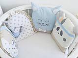 Детский постельный комплект в овальную кроватку Маленькая Соня Chudiki 6 и 7 элементов, фото 5