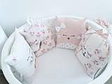 Детский постельный комплект в овальную кроватку Маленькая Соня Chudiki 6 и 7 элементов, фото 4