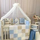 Детский постельный комплект в овальную кроватку Маленькая Соня Chudiki 6 и 7 элементов, фото 6