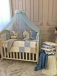 Детский постельный комплект в овальную кроватку Маленькая Соня Chudiki 6 и 7 элементов, фото 7