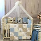Детский постельный комплект в овальную кроватку Маленькая Соня Chudiki 6 и 7 элементов, фото 8