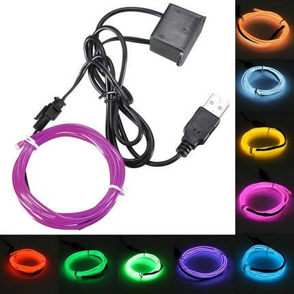 3м одного цвета 5В USB гибкий неон провода EL свет танцевальная вечеринка декор свет - 1TopShop, фото 2
