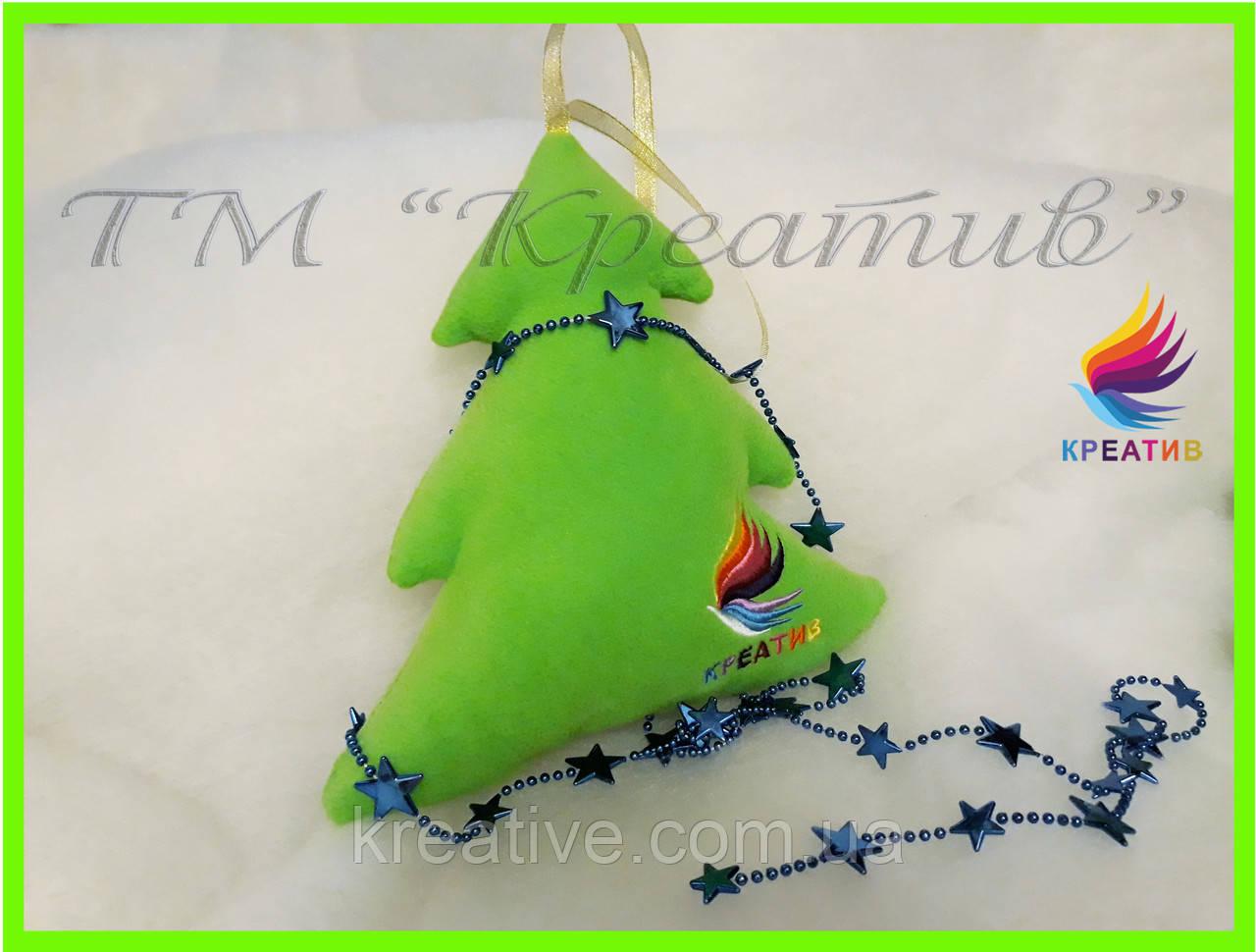 Подушка елка игрушка с вашим логотипом под заказ (от 50 шт.)