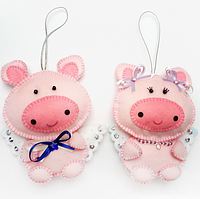 """Набор для творчества из фетра """"Набор для изготовления декоративных игрушек """"Свинки"""", фото 1"""