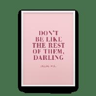 Постер на стену DARLING - с цитатой Коко