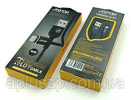 Дата кабель ASPOR A122 Lightning 2.1A Black