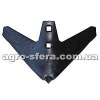 Лапа КПС (270 мм) борированная сталь с наплавкой  Н.043.052.007-Б