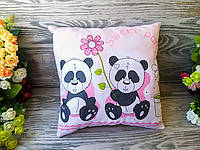 Подушка панды с цветком 2, 30 см * 30 см