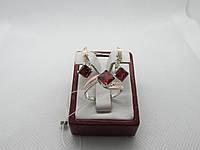 """Ювелирный набор серебряный с золотом """"Квадро"""", фото 1"""