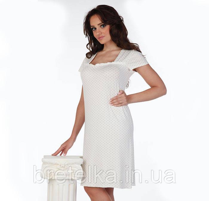 b7b20ea8c779a01 Ночная сорочка, ночнушка, ночная рубашка из вискозы De Lafense молочный