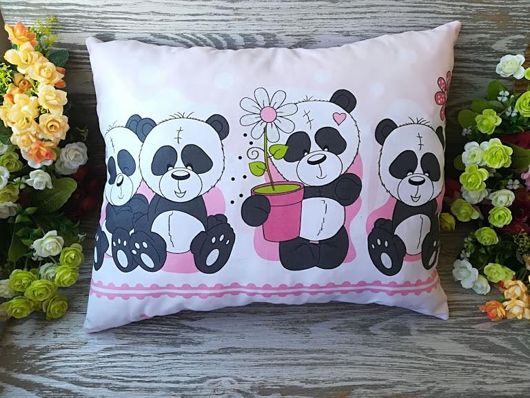 Подушка четыре панды, 42 см * 35 см