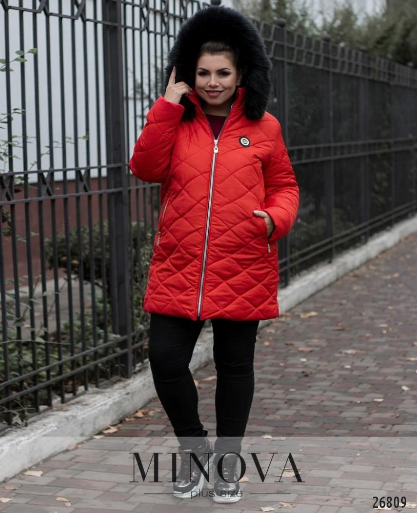 540e7c302 Модная стеганная куртка капюшон с мехом новинка 2019 интернет-магазин  Minova большой размер 50-