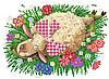 Схема для вышивки бисером А4 Романтичная овечка