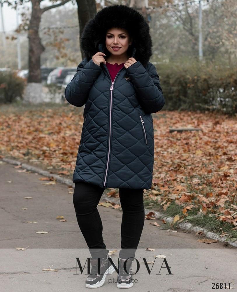 8747071ad Модная стеганная куртка капюшон с мехом новинка 2019 интернет-магазин  Minova большой размер 50-62, цена 2 025 грн., купить в Одессе — Prom.ua  (ID#817160034)