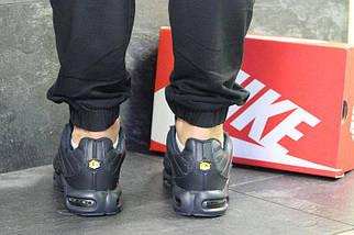 Мужские зимние кроссовки Nike Air Max TN ( пресс кожа) темно синие, фото 3