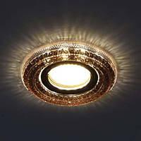 Встраиваемый светильник Feron CD877 с LED подсветкой 4000К чайный, фото 1