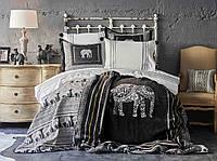 Набор постельное белье с покрывалом + плед Karaca Home - Alenis 2019-1 евро 3e37ac6894614