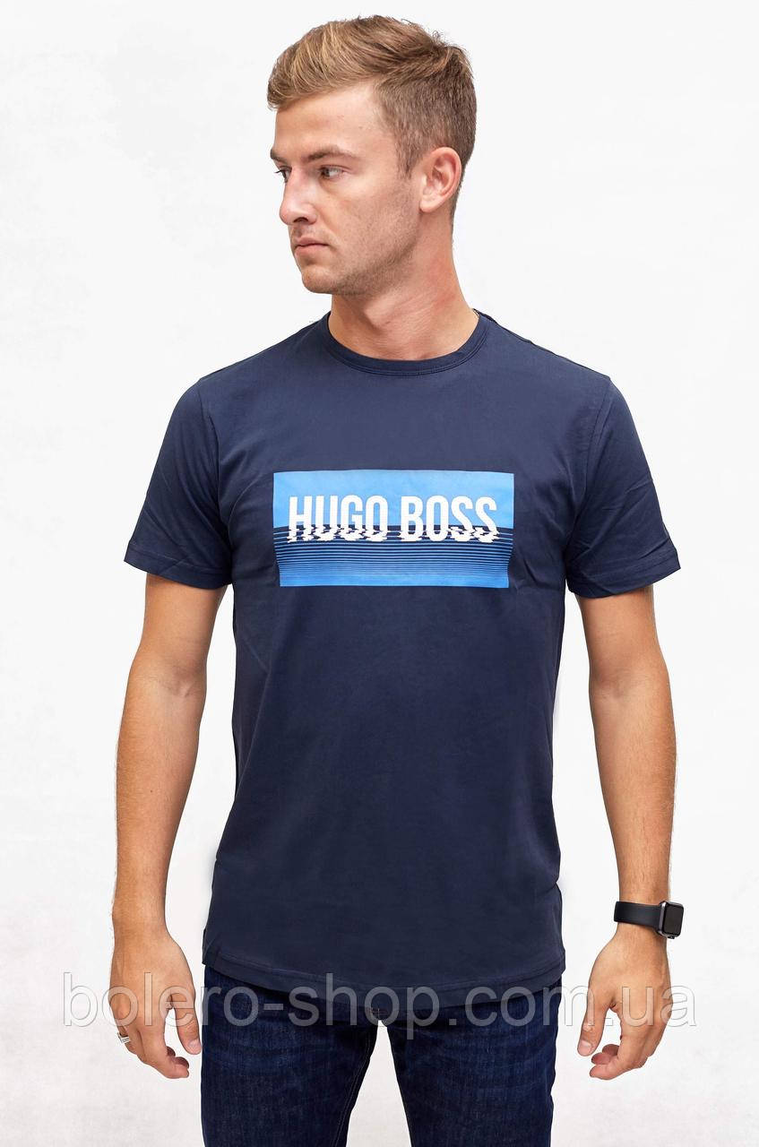 Футболка темно-синяя Hugo Boss