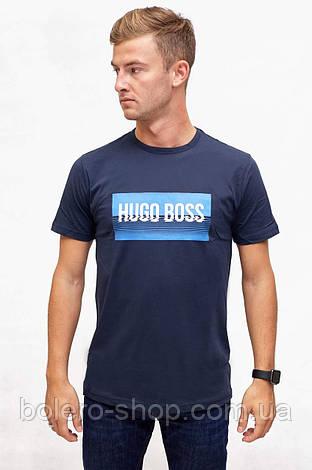 Футболка темно-синяя Hugo Boss , фото 2