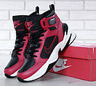 Мужские высокие зимние кроссовки Nike M2K Winter Red Найк красные, фото 9