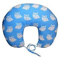 Подушка для кормления Совы на голубом