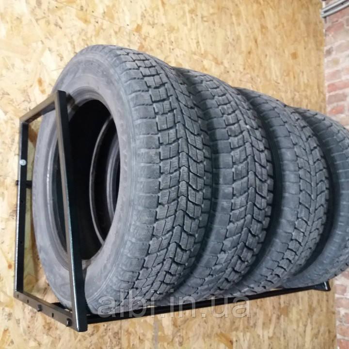 Полка для хранения шин и колес настенная, Сварная разборная, глуб 50 см
