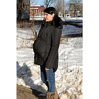 Демисезонная куртка для беременных черная