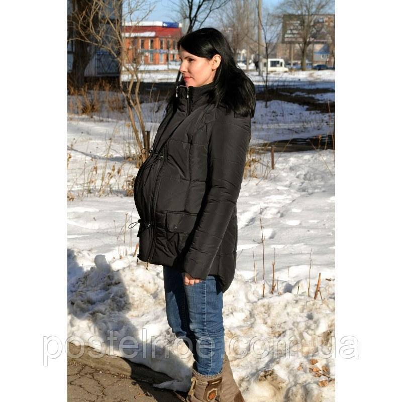 Демисезонная куртка для беременных черная - Интернет магазин