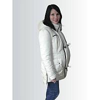 Зимняя куртка для беременных бежево-молочная