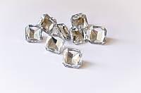 Пуговицы-кристаллы квадратные  (прозрачные) 20 мм, фото 1