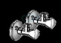 """970350000х2 Schell Sanland Комплект кутових вентилів  для підключення змішувача 1/2""""x3/8"""", хром"""