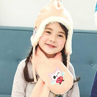 Детский набор шапка+шарф Совушка