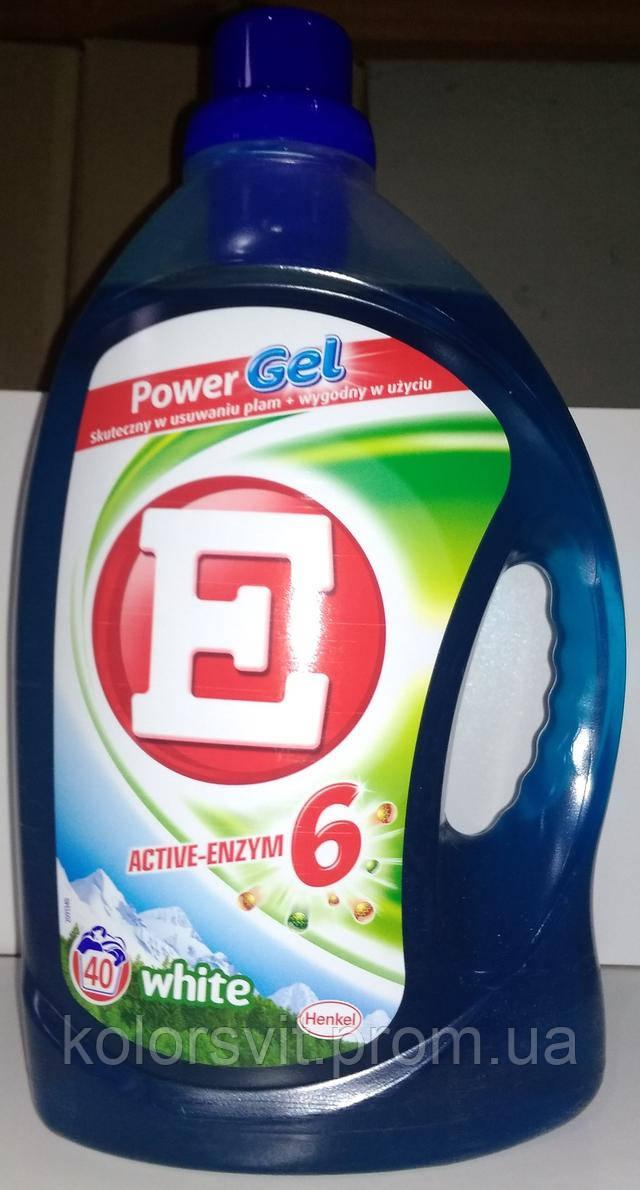 Гель для стирки E active-enzym 6 (white) 2.92л (40 стирок)