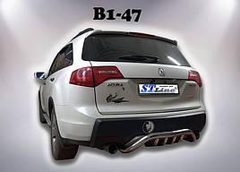 Задняя защита B1-47 (нерж) - Acura MDX 2007-2013 гг.