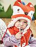 Детский набор шапка+шарф+варежки Лисёнок, фото 3